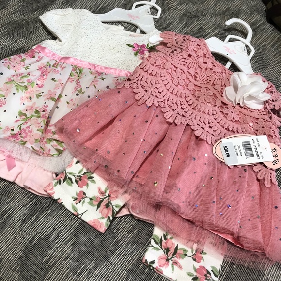 Little Lass Size 3/6 months Girls Outfits NWT